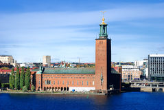 Stockholm city hall. In autumn. Sweden royalty free stock photo
