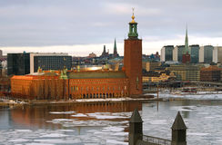 Stockholm city-hall. Stockholm city-hall where the Nobel-price banquet is held stock photography