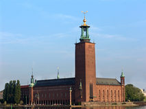 Stockholm City Hall. Is the building of the Municipal Council for the City of Stockholm in Sweden. It is the venue of the Nobel Prize banquet and one of royalty free stock photos