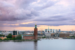Stockholm city hall at dawn. Sweden Stock Image