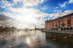 Stockholm City Hall. In the distance, Sweden Stock Photos