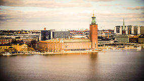 Stockholm City Hall. Municipal Council for the City of Stockholm in Sweden Stock Photo