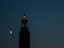 Stockholm City Hall at night Stock Photos