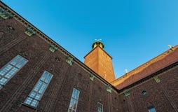 Stockholm City Hall Perspective. Stockholm City Hall, Perspective from inner walls Stock Photo