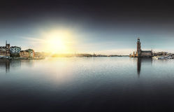Stockholm City Hall with Riddarholmen Royalty Free Stock Images