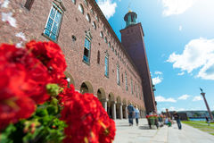Stockholm city hall in Sweden Royalty Free Stock Photos
