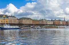 Stockholm city harbour royalty free stock photos