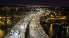 Stockholm city at night Royalty Free Stock Image