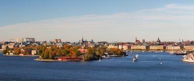 Stockholm city panorama. Stock Image