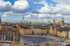 Stockholm city panorama royalty free stock photos