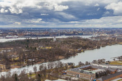 Stockholm city panorama stock photography