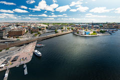 Stockholm city panorama. Sweden, Europe. Royalty Free Stock Photos