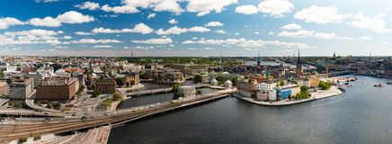 Stockholm city panorama. Sweden, Europe. Stock Photography