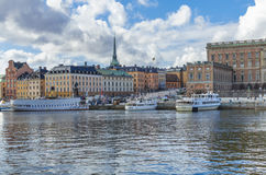 Stockholm city panorama Royalty Free Stock Photo