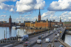 Stockholm city panorama stock images