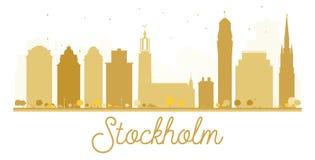 Stockholm City skyline golden silhouette. Stock Image