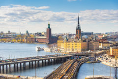 Stockholm city skyline in Sweden Royalty Free Stock Photography