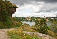 Stockholm city. View from Djurgarden island Stock Images