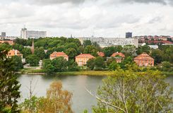 Stockholm city. View from Djurgarden island Royalty Free Stock Image