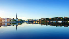 Stockholm city at summer Royalty Free Stock Images