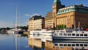 Stockholm city stock video