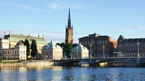 Stockholm city. Sweden in summer stock video footage