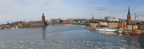 Stockholm city (Sweden) in winter Royalty Free Stock Photography