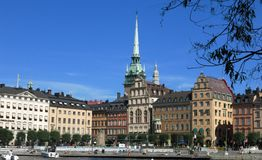 Stockholm city view daytime Royalty Free Stock Image