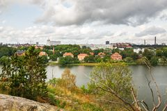 Stockholm city. View from Djurgarden island Stock Photo