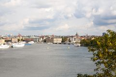Stockholm city view. From Sodermalm district Royalty Free Stock Images