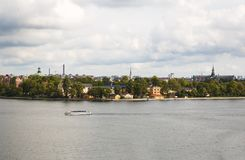 Stockholm city view. Djurgarden island Royalty Free Stock Photo