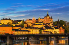 Stockholm city view at sunrise Royalty Free Stock Images