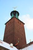 Stockholm Cityhall Clock Tower Royalty Free Stock Image
