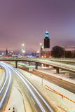 Stockholm Cityhall at night Stock Photography