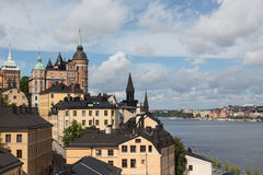 Stockholm Cityscape Royalty Free Stock Photos