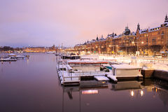 Stockholm Cityscape at dusk Stock Photos