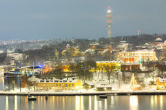 Stockholm Cityscape night Stock Photos