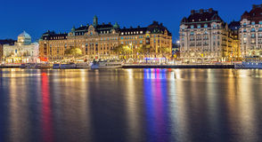 Stockholm Cityscape at night. Stock Photo