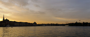 Stockholm cityscape at sunset Stock Photography