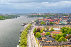 Stockholm in a cloudy summer day Royalty Free Stock Images