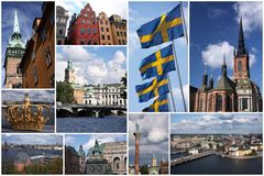 Stockholm collage Stock Photo