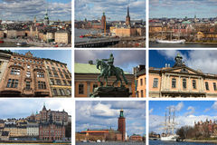 Stockholm collage Royalty Free Stock Photography