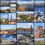 Stockholm collage Royalty Free Stock Images