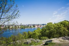 Stockholm d'une vue photo stock