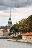 Stockholm dans l'automne image libre de droits