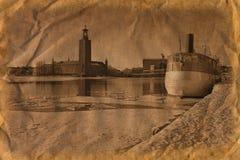 Stockholm dans le rétro type Photographie stock