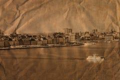 Stockholm dans le rétro type Photo stock