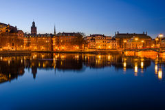 Stockholm at dawn Royalty Free Stock Photography