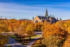 Stockholm in de herfst stock foto's