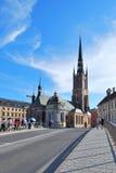 Stockholm, de kerk van de Ridder Stock Afbeeldingen